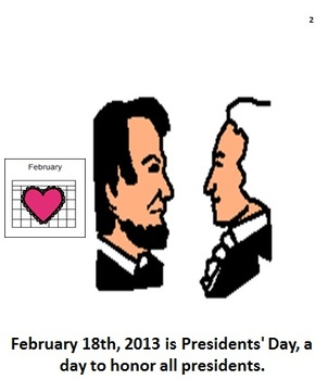 presidents day book and worksheets