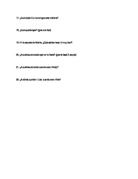 preterite imperfect quiz