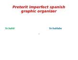 preterit imperfect graphic organizer spanish