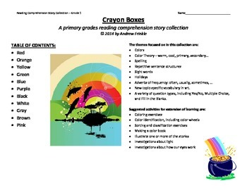 primary grades K-2 reading comprehension story pack - crayon boxes