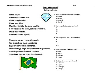 primary grades K-2 reading comprehension story pack - learning my shapes