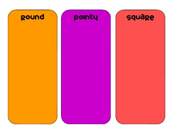 primary grades tracing shapes center - sort and classify shapes by features