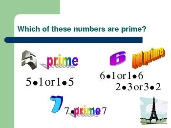 prime numbers presentation