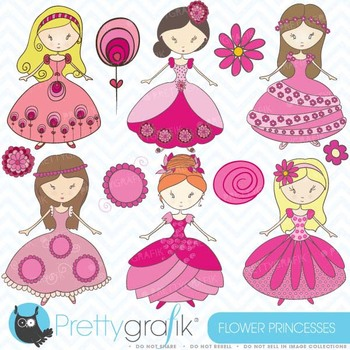 princess clipart commercial use, vector graphics, digital clip art - CL356
