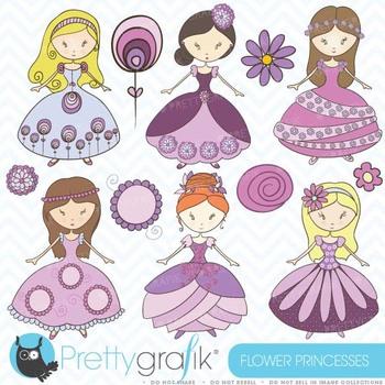princess clipart commercial use, vector graphics, digital clip art - CL368