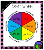 print & paint color wheel template (primary & secondary colors)