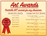 ART AWARD CERTIFICATES printable, colorful, several catego