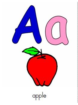 printable Alphabet Flash Cards English and Spanish / abecedario español e ingles