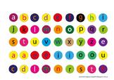 printable alphabet for bottle caps