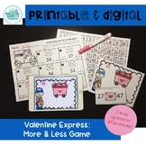printable and digital math game valentine more and less