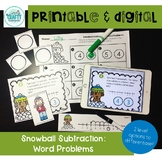 printable and digital math game winter subtraction word problems