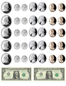 image about Coins Printable referred to as printable dollars - cash