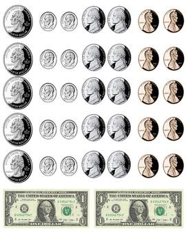photo regarding Printable Coins called printable income - cash