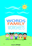 """[color, cut and glue]printable worksheets for """"-ed word family"""""""
