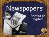 Future of Newspapers, print or digital? ESL adult debate conversation lesson