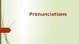 pronouncing words correctly