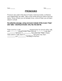 pronouns worksheet for grade 3