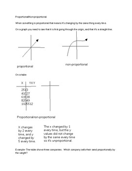 proportional and ratio study guide