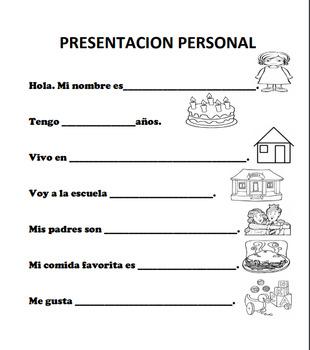 presentacion personal / introducing