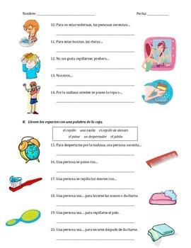 prueba de gramatica - la rutina diaria y los reflexivos