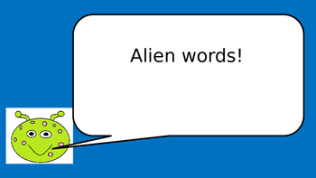 pseudo ( or alien/ nonsense) words Power Point phonics screening revision