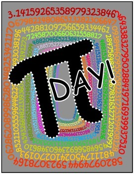 psychedelic PI poster (10,000 digits of pi)