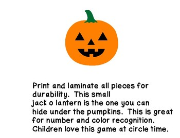 pumpkin hiding game for preschool