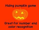 pumpkin hiding game for preschool