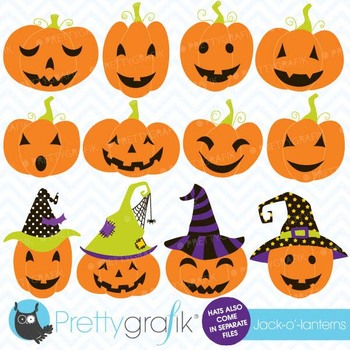pumpkin jack o lantern clipart, commercial use, vector graphics - CL553