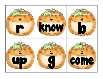 pumpkin theme letter or word sorting literacy center