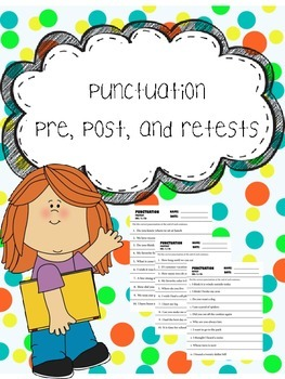 punctuation  pre, post, and retests