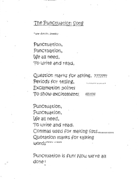 punctuation song/poem