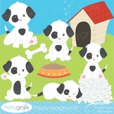 puppy dog clipart commercial use, vector graphics, digital clip art - CL529