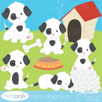 puppy dog clipart commercial use, vector graphics, digital
