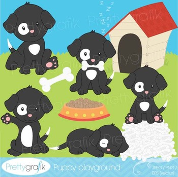 puppy dog clipart commercial use, vector graphics, digital clip art - CL530