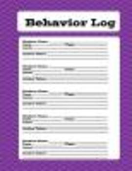 purple chevron behavior log