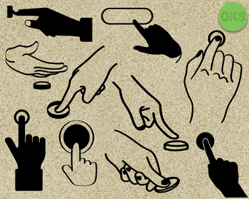 push a button SVG cut files, DXF, vector EPS cutting file instant download