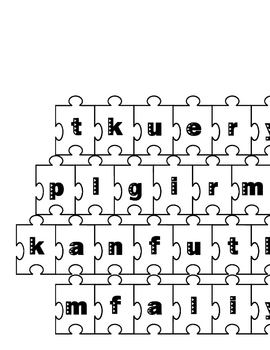puzzle piece cut and paste