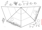 pyramid chain food for coloring_01