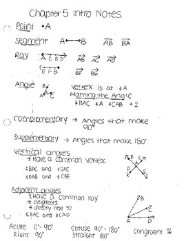 pythagorean theorem notes