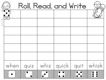 qu, wh Spelling and Word Work Center Printables
