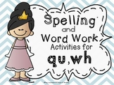 qu and wh Worksheets and Activities for Reading Centers and Small Groups