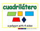 quadrilateral/cuadrilatero geom 2-way blue/verde
