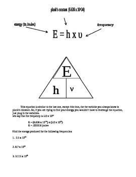 quantum mechanics worksheet