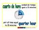 quarter hour/cuarto de hora meas 1-way blue/verde