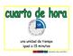 quarter hour/cuarto de hora meas 2-way blue/verde