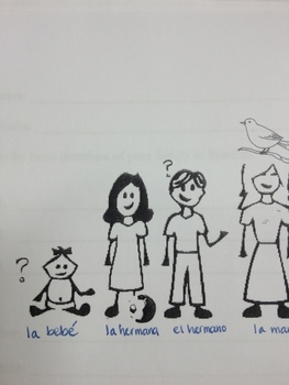 SPanish speaking activity: What does the brother have?