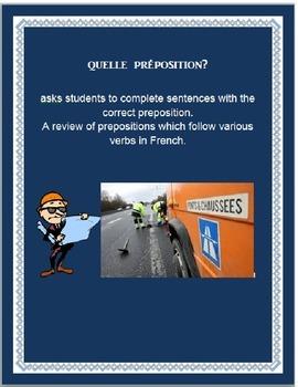 quelle preposition FRENCH