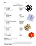 quiz de vocab - chapitres prelim. (months, days of week, numbers) (matching)