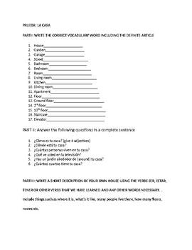 quiz  on house